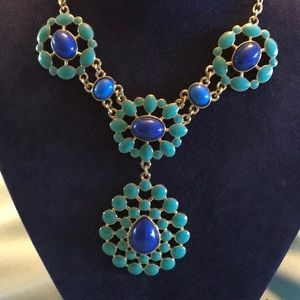 Jewelry - Necklace aqua and blue stones